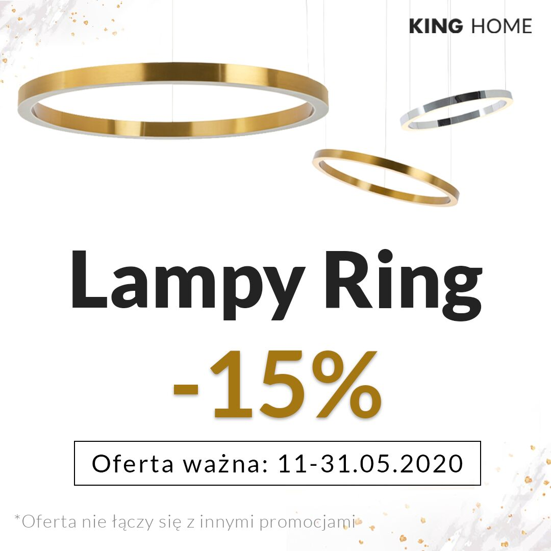 Lampy Ring -15% od 11.05 do 31.05.2020