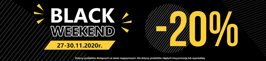 BLACK WEEKEND -20% OD 27.11 DO 30.11 NA PRODUKTY KINGHOME